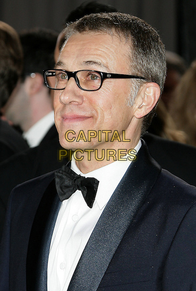 Christoph Waltz .85th Annual Academy Awards held at the Dolby Theatre at Hollywood & Highland Center, Hollywood, California, USA..February 24th, 2013.oscars headshot portrait black white tuxedo glasses  .CAP/ADM.©AdMedia/Capital Pictures.