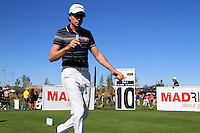Brett Rumford (AUS) walks off the 10th tee during Sunday's Final Round of the Bankia Madrid Masters at El Encin Golf Hotel, Madrid, Spain, 9th October 2011 (Photo Eoin Clarke/www.golffile.ie)