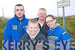 FANS: Enjoying the action at the Banna Beach Hotel and resort sponsored Kerry motor club mini stages car rally last Sunday were Alan O'Halloran, John, Sarah and Brendan Shanahan, all from Abbeydorney.   Copyright Kerry's Eye 2008