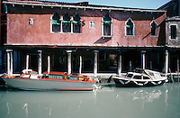 A house on the canal in Murano, Venice Lagoon.