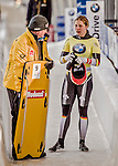 8 January 2016: Tina Herman, competing for Germany, completes her second run of the BMW IBSF World Cup Skeleton race with a combined 2-run time of 1:51.17, earning a 4th place finish for the day at the Olympic Sports Track in Lake Placid, New York, USA. Mandatory Credit: Ed Wolfstein Photo *** RAW (NEF) Image File Available ***