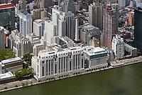 aerial photograph Hospital for Special Surgery, East River Esplanade, Manhattan, New York City