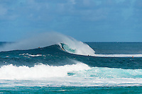 North Shore, Oahu, Hawaii (Wednesday, December 25, 2013) –  The swell dropped overnight to around 8' 10' at Pipeline today.  The swell was very West. Sunset Beach had very good waves on the West peak. Photo: joliphotos.com
