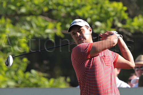 26.05.2012 Wentworth, England. Simon Khan (ENG) in action during the BMW PGA Championship. Saturday, day 3 of competition.