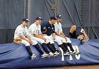 Florida International University players relax before the game against the University of North Florida. FIU won the game 6-4 on March 13, 2012 at Miami, Florida.