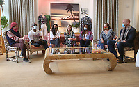 PACIFIC PALISADES, CA -June 28: Yancy Schwartz, Peter Arthur, Gabriella Wright, Elisabeth Rohm, Rebecca Watson, Felicia Tomasko, Blake Shields Abramovitz, at Elisabeth Rohm ihosts a RESPECT TALK on How To Cultivate More Bliss in Today's World at Veronica Beard in Pacific Palisades California on June 28, 2020. Credit: Faye Sadou/MediaPunch