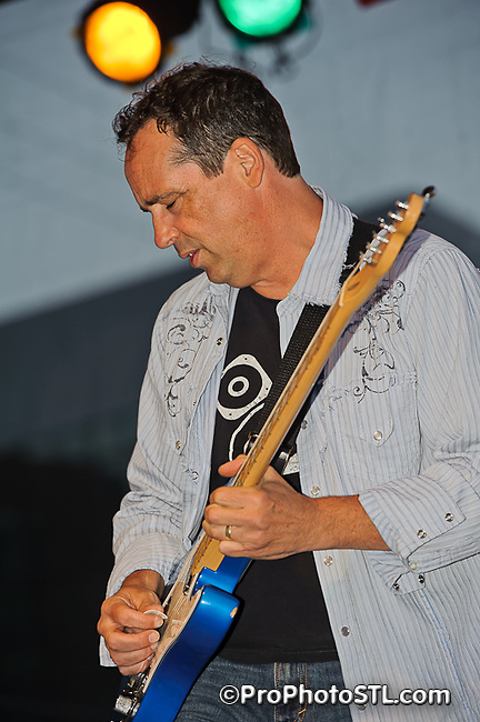 Gene Dobbs Bradford Blues Experience in concert at St. Louis Art Fair in Clayton, MO on Sept 9, 2011.