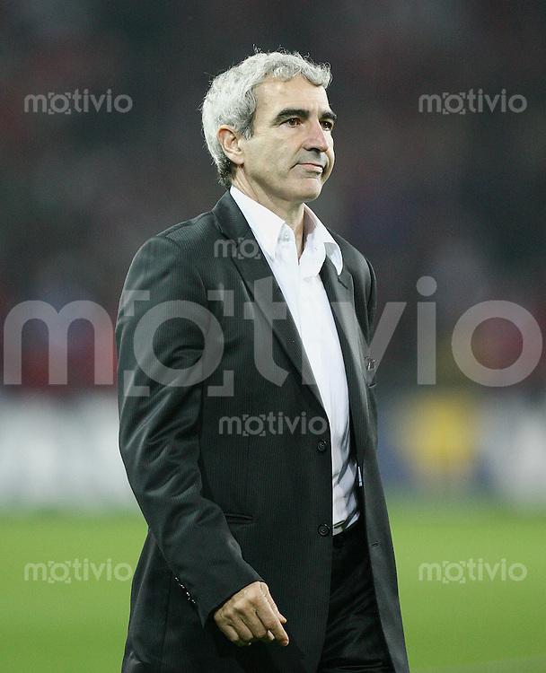 Fussball International WM Qualifikation Schweiz 1-1 Frankreich FRA Trainer Raymond Domenech