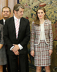 Princess Letizia of Spain attends audience with some members of the regional media Diario de Jaen.November 19,2012. (ALTERPHOTOS/Acero)