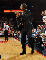 Virginia head coach Tony Bennett reacts to a play during the game against Clemson Thursday in Charlottesville, VA.