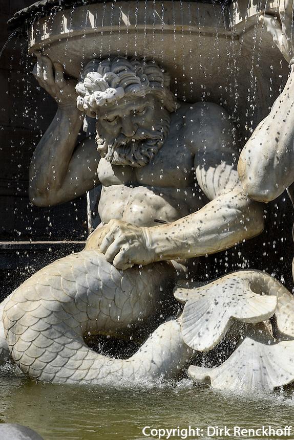 Albrecht-Brunnen vor der Albertina, Wien, &Ouml;sterreich, UNESCO-Weltkulturerbe<br /> Albrecht Fountain at Albertina, Vienna, Austria, world heritage