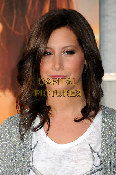 "ASHLEY TISDALE .""The Last Song"" World Premiere held at Arclight Cinemas, Hollywood, California, USA, 25th March 2010..arrivals portrait headshot grey gray white   silver pink lipstick make-up wavy hair bob .CAP/ADM/BP.©Byron Purvis/AdMedia/Capital Pictures."