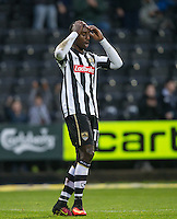 Jonathan Forte of Notts Co reaction as he realises his goal has been disallowed during the Sky Bet League 2 match between Notts County and Wycombe Wanderers at Meadow Lane, Nottingham, England on 10 December 2016. Photo by Andy Rowland.