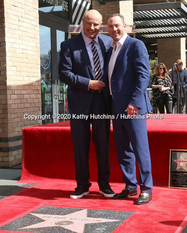 LOS ANGELES - FEB 21:  Dr Phil McGraw and Jay McGraw at the Dr Phil Mc Graw Star Ceremony on the Hollywood Walk of Fame on February 21, 2019 in Los Angeles, CA