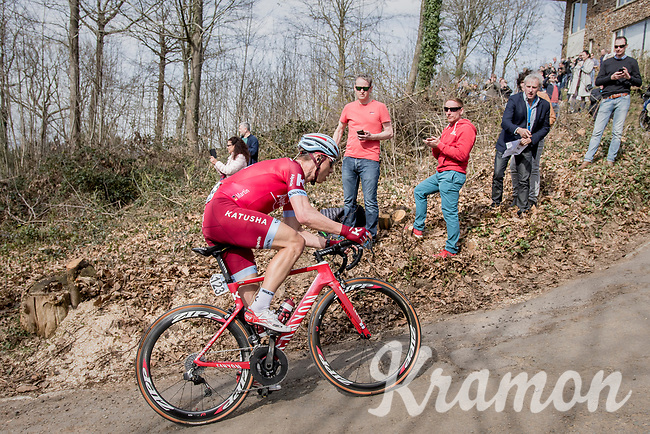 Tony Martin (DEU/Katusha-Alpecin) trying to cross the gap towards the breakaway group up the Baneberg<br /> <br /> 79th Gent-Wevelgem 2017 (1.UWT)<br /> 1day race: Deinze &rsaquo; Wevelgem - BEL (249km)