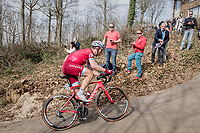 Tony Martin (DEU/Katusha-Alpecin) trying to cross the gap towards the breakaway group up the Baneberg<br /> <br /> 79th Gent-Wevelgem 2017 (1.UWT)<br /> 1day race: Deinze › Wevelgem - BEL (249km)