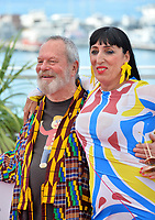 """Rossy De Palma & Terry Gilliam at the photocall for """"The Man Who Killed Don Quixote"""" at the 71st Festival de Cannes, Cannes, France 19 May 2018<br /> Picture: Paul Smith/Featureflash/SilverHub 0208 004 5359 sales@silverhubmedia.com"""