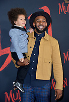 """LOS ANGELES, CA: 09, 2020: Stephen tWitch Boss & Maddox Laurel Boss at the world premiere of Disney's """"Mulan"""" at the El Capitan Theatre.<br /> Picture: Paul Smith/Featureflash"""