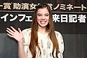 "Hailee Steinfeld, ..Feb 17, 2011: ..14 year old Hailee Steinfeld, best supporting actress nominee for her role in ""True Grit,"" attends press conference for the movie ..at Peninsula Tokyo Hotel in Japan...(Photo by AFLO) [1045]"