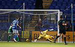 09.11.2019 St Johnstone v Hibs: St Johnstone pull back a colsolation goal as Chris Maxwell is beaten