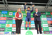 8th September 2017, Newmarket, England; OVO Energy Tour of Britain Cycling; Stage 6, Newmarket to Aldeburgh; Caleb EWAN (AUS) waves to the crowd as he wins stage 6