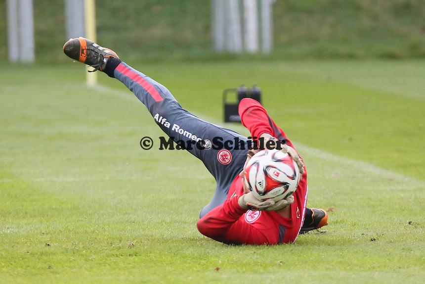 Timo Hildebrand (EIntracht) ersetzt den verletzten Kevin Trapp - Eintracht Frankfurt Training, Commerzbank Arena