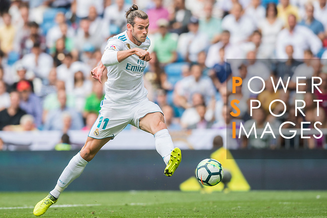 Gareth Frank Bale of Real Madrid in action during the La Liga match between Real Madrid and Levante UD at the Estadio Santiago Bernabeu on 09 September 2017 in Madrid, Spain. Photo by Diego Gonzalez / Power Sport Images