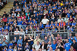 St Johnstone v Hearts...03.08.14  Steven Anderson Testimonial<br /> Saints fans applaud Ando<br /> Picture by Graeme Hart.<br /> Copyright Perthshire Picture Agency<br /> Tel: 01738 623350  Mobile: 07990 594431