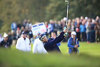 Jordan Spieth (USA) during the Saturday morning Fourballs of the 2014 Ryder Cup at Gleneagles. The 40th Ryder Cup is being played over the PGA Centenary Course at The Gleneagles Hotel, Perthshire from 26th to 28th September 2014.: Picture Kenneth E.Dennis, www.golffile.ie: \27/09/2014\