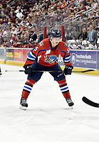 HERSHEY, PA - DECEMBER 01: Springfield Thunderbirds center Henrik Borgstrom (5) focuses before taking an offensive zone face-off during the Springfield Thunderbirds at Hershey Bears on December 1, 2018 at the Giant Center in Hershey, PA. (Photo by Randy Litzinger/Icon Sportswire)