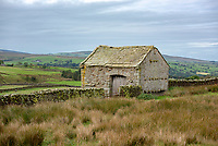 Stone farm barn near Lancaster, Lancashire.