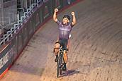 7th February 2019, Melbourne Arena, Melbourne, Australia; Six Day Melbourne Cycling; Mohd Azizulhasni Awang celebrates his Keirin win