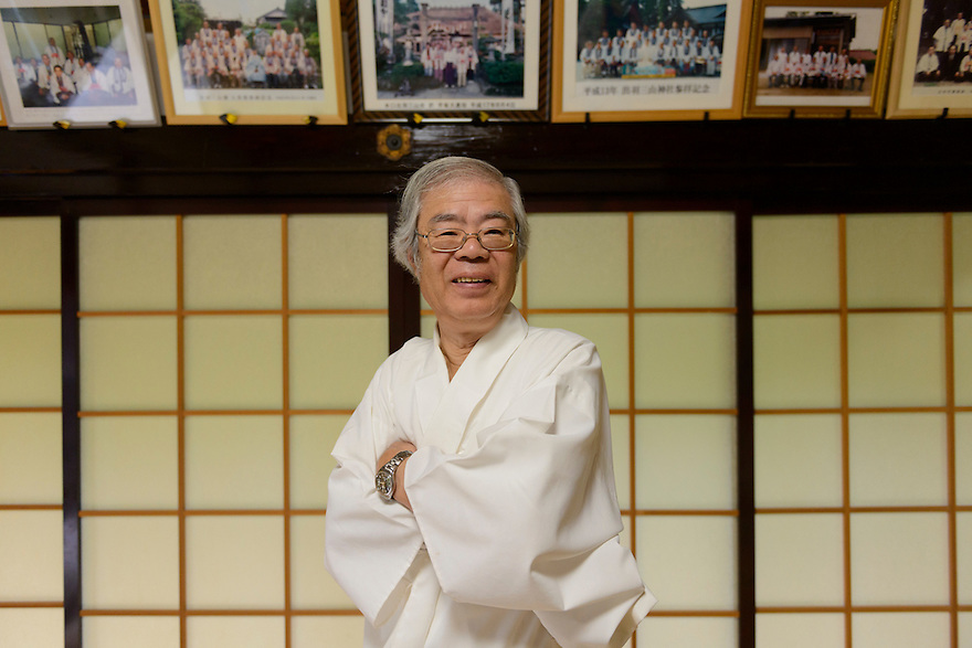 Owner of the Daishinbo lodging house, Dewa Sanzan, Tsuruoka-city, Yamagata Prefecture, Japan, October 18, 2012.
