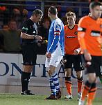 Ian Brines sends off Stuart Armstrong
