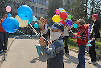 - 20 years from the nuclear incident of Chernobyl, pediatric oncologic hospital of Kiev, the sick children victims of the radiations celebrate the anniversary in their way ....- 20 anni dall'incidente nucleare di Chernobyl, ospedale oncologico pediatrico di Kiev, i bambini malati vittime delle radiazioni celebrano a modo loro l'anniversario