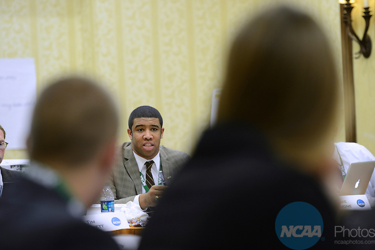 15 JAN 2013: The Division I Student-Athlete Advisory Committee Meeting during the 2013 NCAA Convention held at the Gaylord Texan in Grapevine, TX. Stephen Nowland/NCAA Photos.Pictured: Eugene Daniels