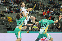 18.01.2013 Barcelona, Spain. IHF men's world championship, prelimanary round. Picture show Fahrudin Melic    in action during game between Montenegro vs Brazil at Palau St Jordi