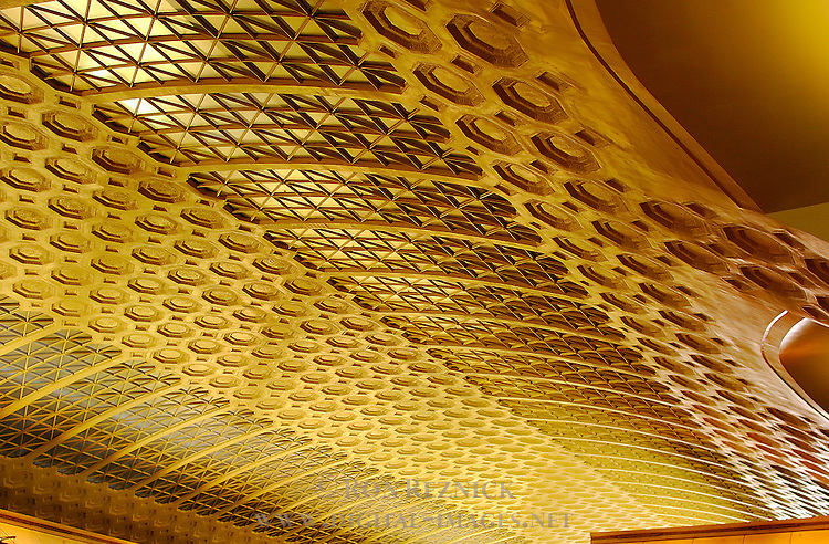 Gilded Coffered Ceiling, Grand Concourse, Union Station, Washington DC