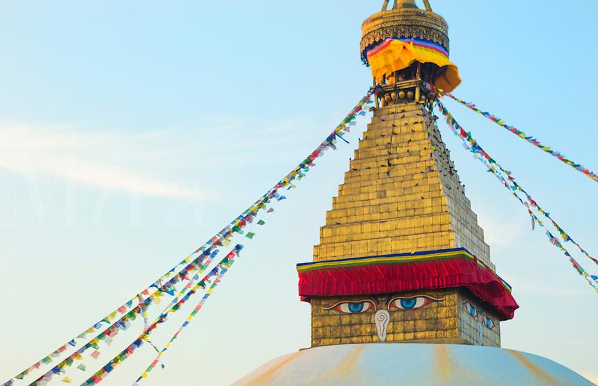 Kathmandu Nepal Boudhanath Stupa at the famous religious temple