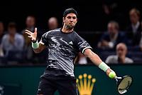 1st November 2019, AccorHotels Arena, Bercy, Paris, France; Rolex Paris Masters tennis tournament;  Fernando Verdasco (Esp)
