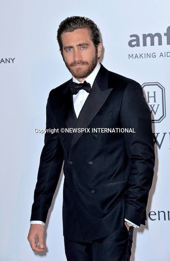 12.05.2015, Antibes; France: JAKE GYLLENAAL<br /> attends the Cinema Against AIDS amfAR gala 2015 held at the Hotel du Cap, Eden Roc in Cap d'Antibes.<br /> MANDATORY PHOTO CREDIT: &copy;Thibault Daliphard/NEWSPIX INTERNATIONAL<br /> <br /> (Failure to credit will incur a surcharge of 100% of reproduction fees)<br /> <br /> **ALL FEES PAYABLE TO: &quot;NEWSPIX  INTERNATIONAL&quot;**<br /> <br /> Newspix International, 31 Chinnery Hill, Bishop's Stortford, ENGLAND CM23 3PS<br /> Tel:+441279 324672<br /> Fax: +441279656877<br /> Mobile:  07775681153<br /> e-mail: info@newspixinternational.co.uk