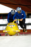 19 November 2005: Hiroshi Suzuki pilots the Japan 2 sled to a 30th place finish at the 2005 FIBT AIT World Cup Men's 2-Man Bobsleigh Tour at the Verizon Sports Complex, in Lake Placid, NY. Mandatory Photo Credit: Ed Wolfstein.