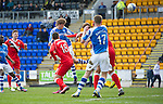 St Johnstone v Ross County.....21.04.13      SPL.Murray Davdison makes it 2-1.Picture by Graeme Hart..Copyright Perthshire Picture Agency.Tel: 01738 623350  Mobile: 07990 594431