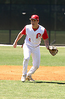 March 29, 2005:  Adrian Cardenas of Monsignor Pace High School during a game at Bishop Moore Catholic High School in Orlando, FL.  Cardenas was drafted in the first round by the Philadelphia Phillies of the 2006 MLB draft; traded to the Oakland Athletics in 2008.  Photo By Mike Janes/Four Seam Images