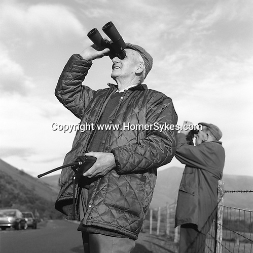 The Blencathra Foxhounds. Hunt supporters follow the hounds from their vehicles as they stream across the mountainous terrain. Near Braithwaite, Cumbria...Hunting with Hounds / Mansion Editions (isbn 0-9542233-1-4) copyright Homer Sykes. +44 (0) 20-8542-7083. < www.mansioneditions.com >
