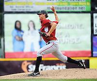 Altoona Curve pitcher Kenn Kasparek (46) during game against the Trenton Thunder at ARM & HAMMER Park on July 24, 2013 in Trenton, NJ.  Altoona defeated Trenton 4-2.  Tomasso DeRosa/Four Seam Images