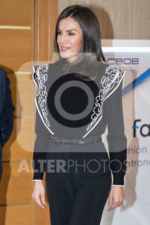 MADRID, SPAIN Queen Letizia of Spain attends the meeting of the patronage of the foundation of AID against drug adittion<br /> December 10, 2019. <br /> (ALTERPHOTOS/David Jar)