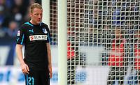 FUSSBALL   1. BUNDESLIGA   SAISON 2012/2013    27. SPIELTAG FC Schalke 04 - TSG 1899 Hoffenheim                       30.03.2013 Patrick Ochs (TSG 1899 Hoffenheim) ist enttaeuscht