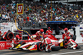 2017 Verizon IndyCar Series - Firestone Grand Prix of St. Petersburg<br /> St. Petersburg, FL USA<br /> Sunday 12 March 2017<br /> Marco Andretti pit stop<br /> World Copyright:Sam Cobb/LAT Images<br /> ref: Digital Image cobb-stpete-170312-4454