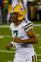 Green Bay Packers quarterback Brett Hundley (7) during a National Football League game against the Chicago Bears on September 28, 2017 at Lambeau Field in Green Bay, Wisconsin. Green Bay defeated Chicago 35-14. (Brad Krause/Krause Sports Photography)